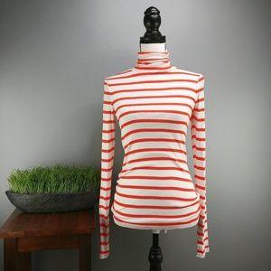 Anthro Pilcro | Red & White Striped Turtleneck
